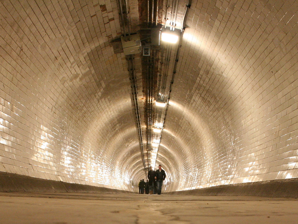 greenwich foot tunnel fotografia